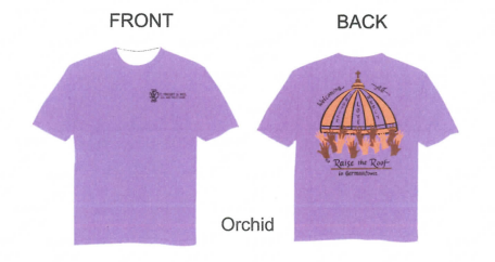 front and back view of st vincent's t-shirts