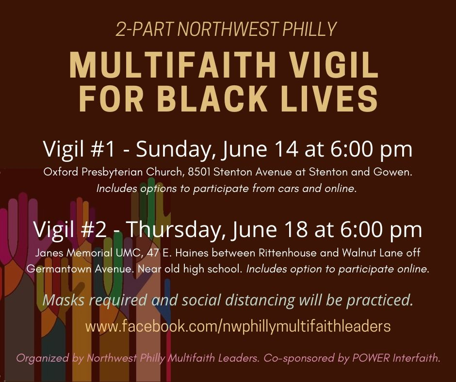 Flyer for vigil event