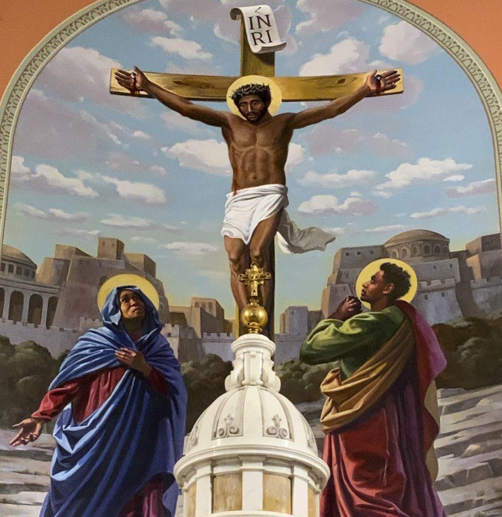St. Vincent Parish Altar Crucifixion Mural